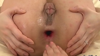 Frisky lezzie hotties are gaping and fisting ass holes