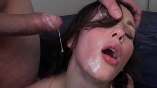 Brunette takes biggest Cumshot EVER!
