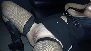 Slutwife gangbanged to a large strangers at the Adult Theater