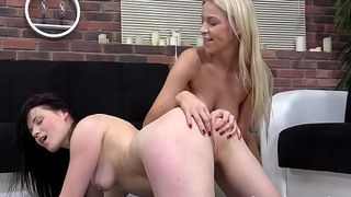 Lesbian Anal - Ass to mouth toying be expeditious for gorgeous girls