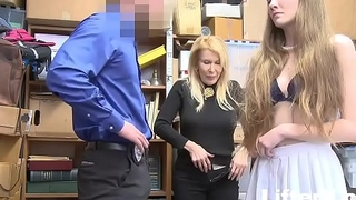GRANDDAUGHTER AND GRANDMOTHER GET CAUGHT SHOPLIFTING- LifterX.com