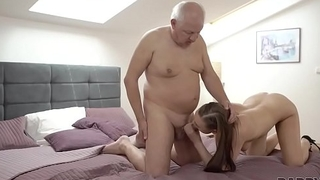 DADDY4K. Slutty girl fucked by horny old dad behind boyfriend'_s back