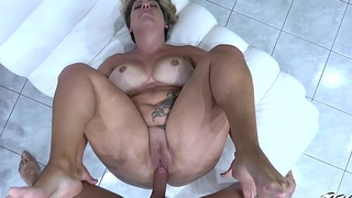Busty piece of woman private road cock so horny that cum on fat pussy fast