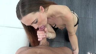 Pounding Hair brunette got loads of cum on her great pussy