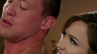 Blonde dom slut anal fucks muscular dude