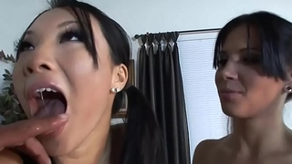 Rebeca Linares and Asa Akira two big asses and a huge cock