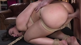 Brunette hottie fucked in bondage by stranger