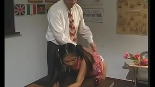 Filty schoolgirl gets cum-hole fingered and screwed hard
