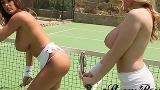 Stacey Poole: Wet on a Tennis Court with Beth Lily (StaceyPoole.co.uk Portfolio) [HD]