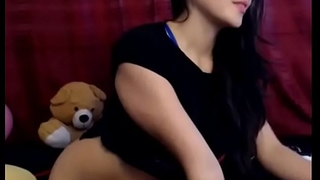 cute girl showing her pussy on cam