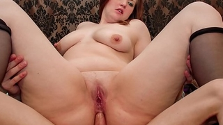 LA NOVICE - Sweet BBW French newbie enjoys hot pussy and ass fuck