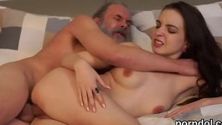 Innocent college girl is seduced and screwed overwrought older mentor