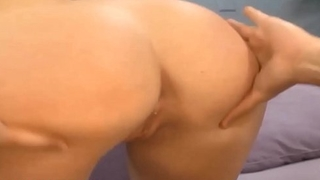 HD bubble butt pounded and cum on ass