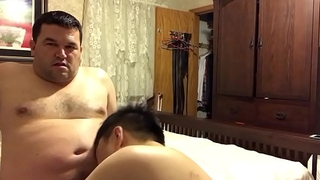 Making out with Asian buddy