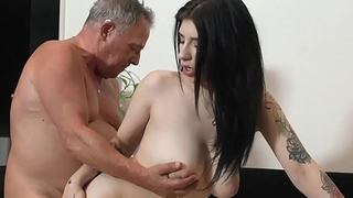 Beautiful MILF increased by sucks increased by fuck at one's disposal grandpas