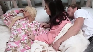 Teens suck n tug stepdads