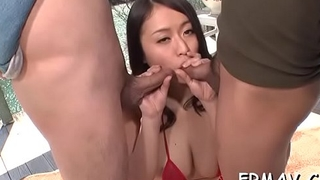 Naughty japanese has wanton needs for juicy cock engulfing